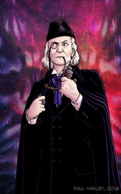 """""""I'm citizen of the universe and a gentleman to boot!"""" New portrait of William Hartnell as the First Doctor."""