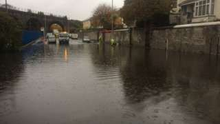 South West flooding: Roads closed and trains diverted
