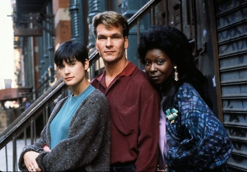 Patrick Swayze, Demi Moore and Whoopi Goldberg in Ghost.