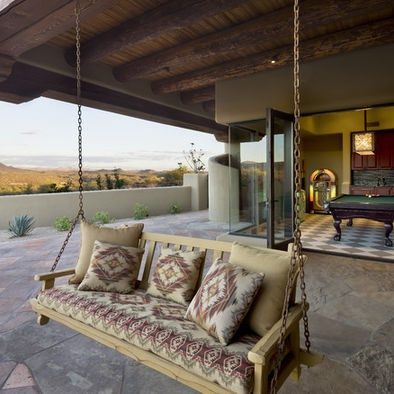 porch swing under deck - Under Deck Patio Ideas