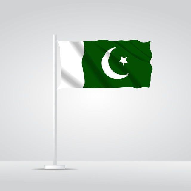 Isolated Pakistani Flag Waving 3d Realistic Pakistani Fabric Pakistani Flag Red Background Images Flag