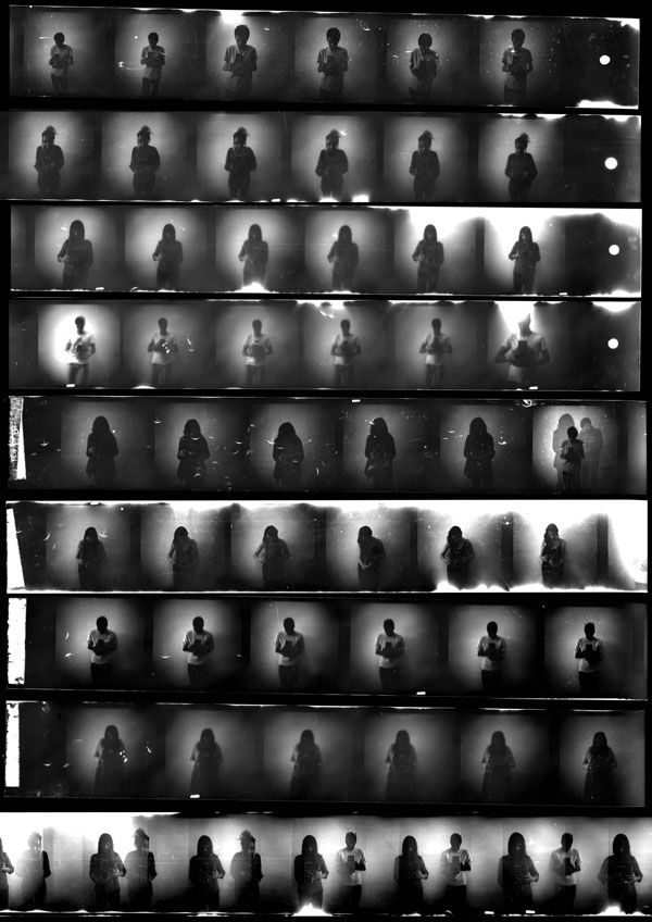 pinhole contact sheet, love the mystery