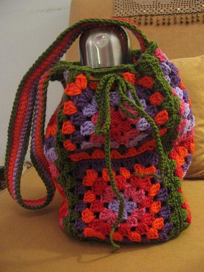 Bolso para mate (bolso matero) tejido a mano al crochet « Wendy Souvenirs