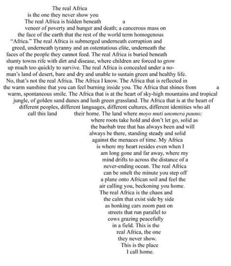 """My Africa is where my heart resides, even when I am long gone and far away..."""