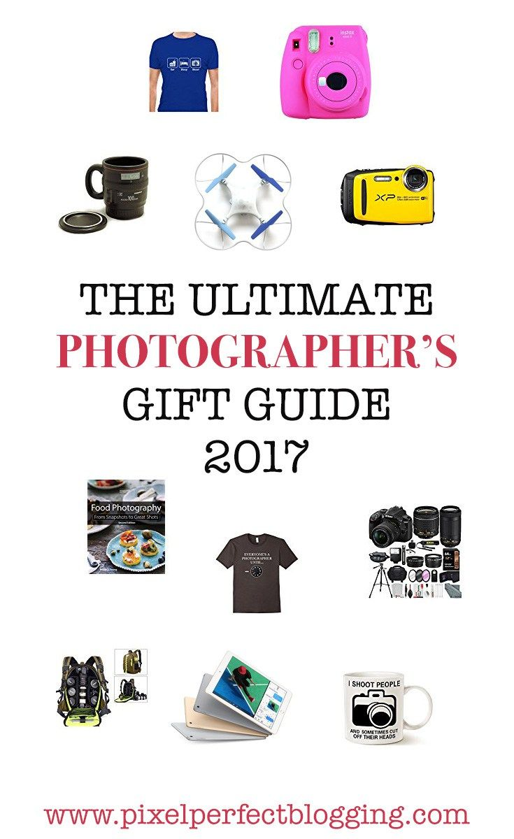 Do you have a photographer you want to buy for this holiday season? Maybe it's you! Check out this ultimate gift guide for Christmas 2017. #giftguide #photographer