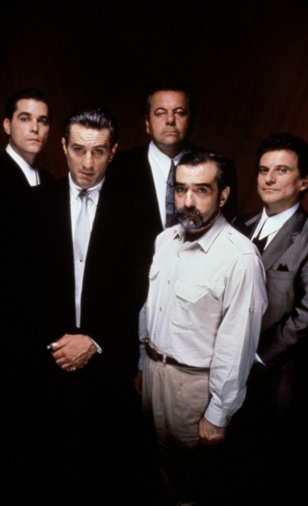 Goodfellas - Just a bunch of wiseguys hanging around... Ray Liota, Robert De Niro, Paul Sorvino, Martin Scorsese & Joe Pesci #GangsterMovie #GangsterFlick