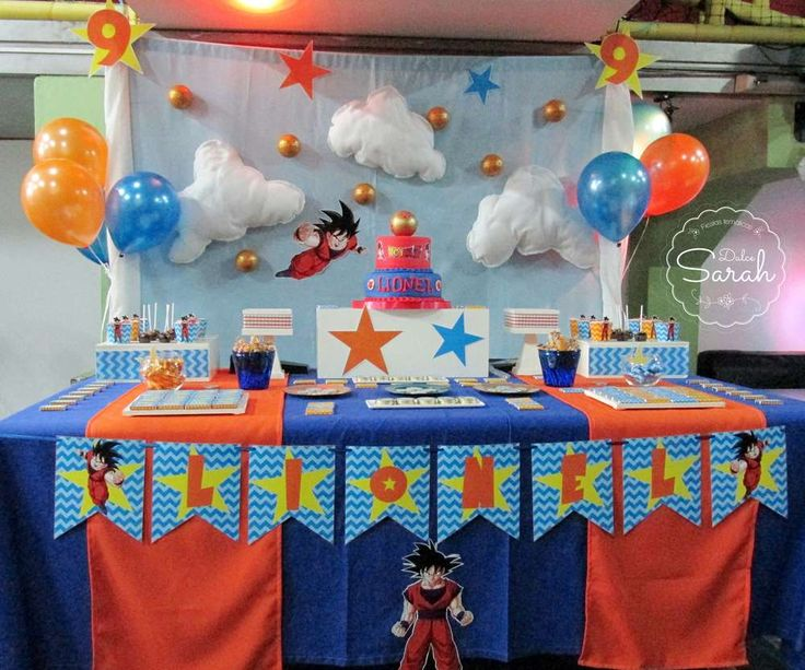 Lionel's Dragon Ball Z party | CatchMyParty.com