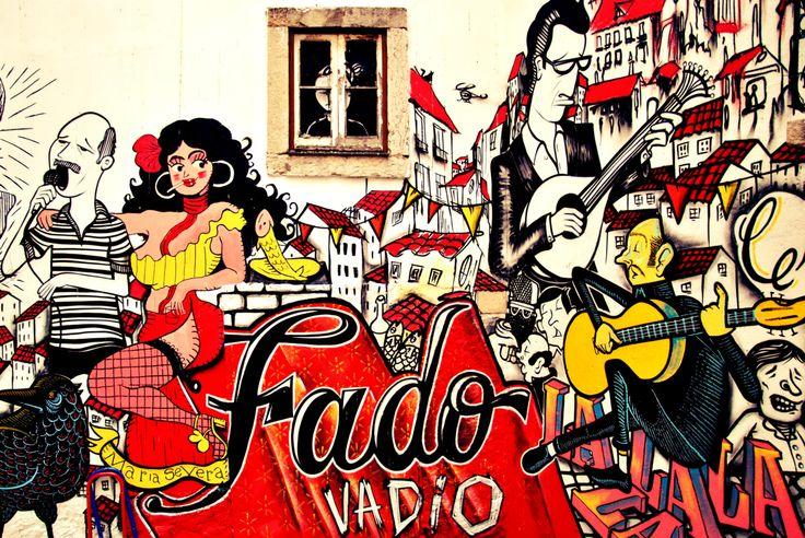 Fado tribute graffiti . Escadinhas de São Cristóvão, Lisbon