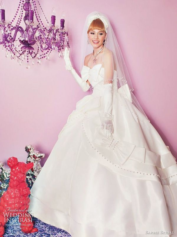 最高に可愛い!『Barbie BRIDAL』の純白ウェディングドレスコレクション♡白のAラインの花嫁衣装、ウェディングドレスのまとめ一覧です♡