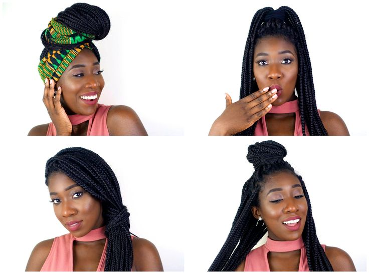 6 Cool Hairstyles For Box Braids #boxbraids #naturalhair #6coolhairstyles #twistouts