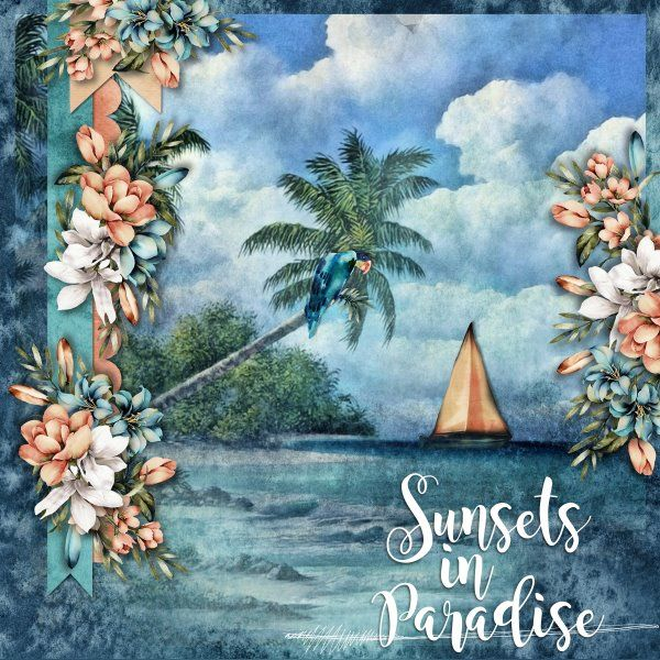Kit Sunsets in Paradise by Jumpstart Designs. Template The Story of Us 4 by Miss Mel Templates.