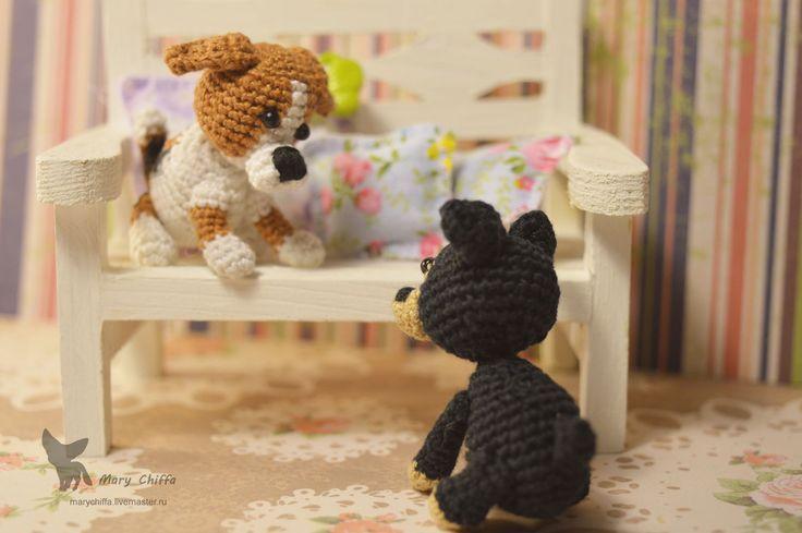 Купить Щенки Той-Терьера и Бигля - комбинированный, той-терьер, бигль, щенок, брелок, сувенир