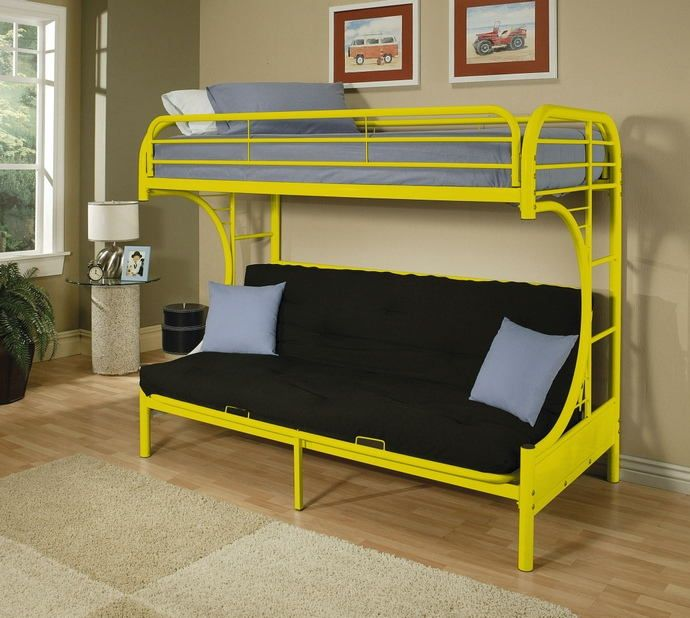 Tubular Metal Bunk Bed Futon