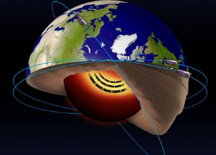 Un río de metal fundido tan caliente como el Sol corre hacia Europa | N+1: artículos científicos, noticias de ciencia, cosmos, gadgets, tecnología El monitoreo de campos magnéticos que realizan tres satélites de la Agencia Espacial Europea, ha permitido detectar desde la órbita de la Tierra un río de hierro en estado líquido que viene fluyendo y extendiendo su longitud a 3.000 kilómetros bajo la superficie de nuestro planeta. Los resultados del estudio fueron publicados en Nature Geoscience.