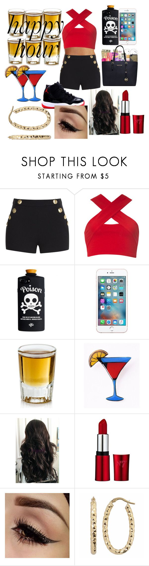 """""""HAPPY HOUR NINGAS IN A RED SUIT"""" by lilzaddyriah ❤ liked on Polyvore featuring Boutique Moschino, Motel and Fremada"""