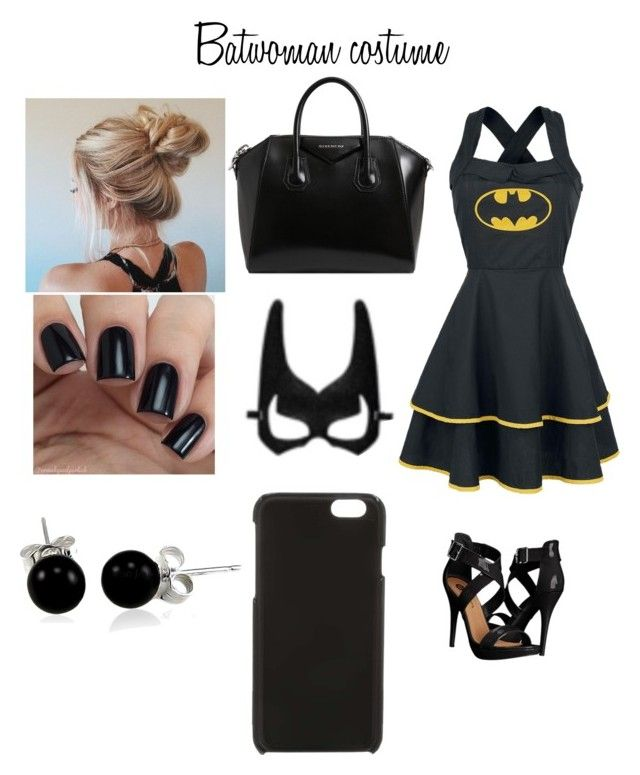 """Batwoman costume"" by elena-gil ❤ liked on Polyvore featuring art"