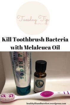#TuesdayTip - Kill Toothbrush Bacteria with Melaleuca Oil from Healthy, Fit & Barefoot!