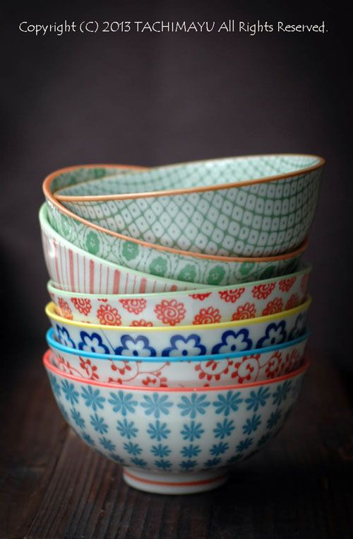 Japanese porcelain bowls for rice