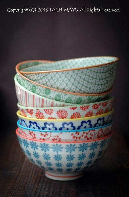 Japanese porcelain bowls for rice