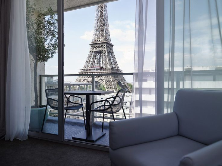 The best part about this hotel might be its proximity to the one of the world's most famous (and Instagrammable) landmarks: the Eiffel Tower. The structure is so close—a mere four minutes by foot—that you can easily sneak it into your selfies, especially since views of the tower and Trocadéro come standard with a stay in most of the modern, modular rooms. For a meal that'll appease both your palate and your too-tired traveler legs, grab a seat at the in-house FR/AME brass...