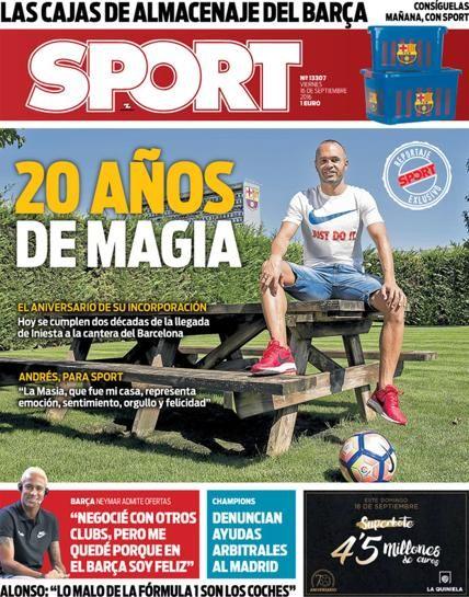 Portada Sport 16 de septiembre