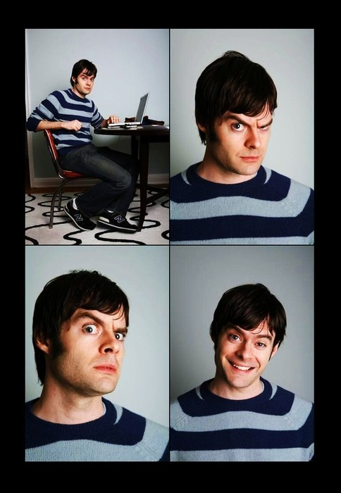 Bill Hader - he reminds me of the Younger Dan Akroyd a bit. LOVE HIM!!! :D - Amy Blair