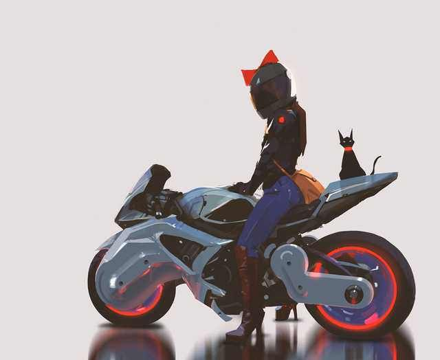 Kiki S Cyberpunk Delivery Service In 2020 Anime Motorcycle
