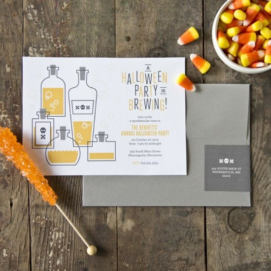 Brew-haha Halloween Party Invitations by Maddy and Shauna from A Splendid Party via OSBP