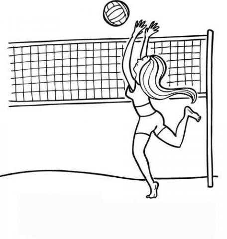 Voleibol Dibujos Para Colorear Dibujo De Voleibol Voleibol Dibujos