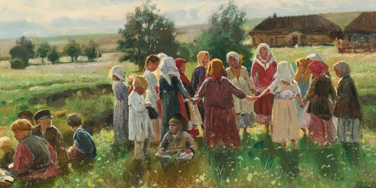 Vladimir Makovsky  Играющие дети