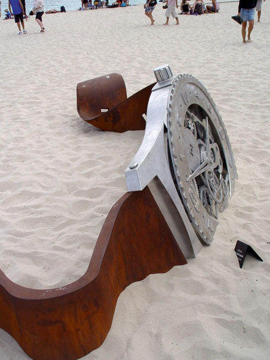 Giant watch in the sand - Perth, Australia