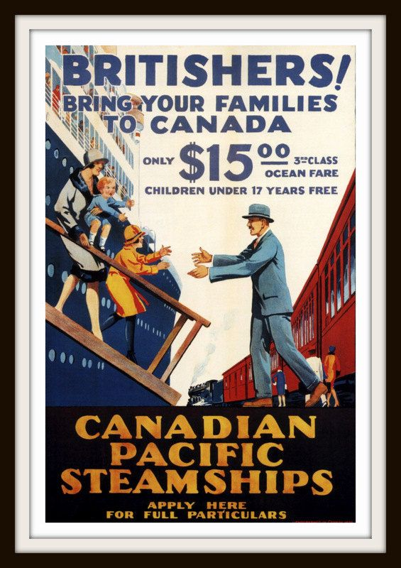 Vintage Travel Poster  Canadian Pacific by RosiesVintagePrints, $25.00