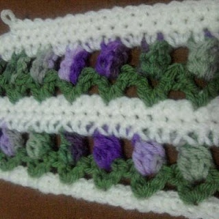 CROCHET ROW OF FLOWERS ? Only New Crochet Patterns
