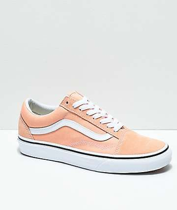 Vans Old Skool Bleached Apricot   White Skate Shoes  c30c2fb88