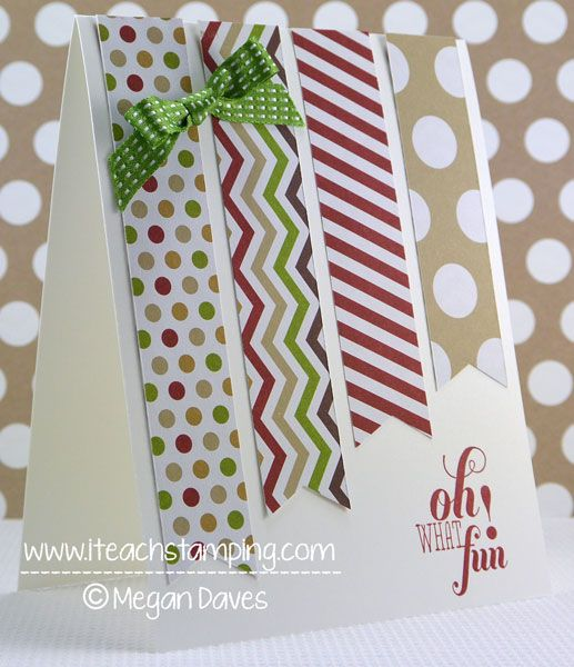 Christmas Cards   Card Making Ideas   Stampin' Up! Cards   Punch Art Cards   How To Tie A Bow   Another Clean & Simple Christmas Card Idea!