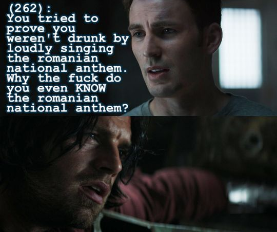 "Texts From The Avengers Haha I love Bucky' s face like ""Uhhh..you know, I'm not sure."""