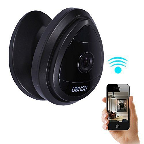 UOKOO Security Mini IP Camera, HD Home Surveillance Camera Wireless IP Camera, WiFi Security Camera for Baby Video Monitor Nanny Cam,Motion Detection (Black 2.0) - http://www.amazon4all.net/uokoo-security-mini-ip-camera-hd-home-surveillance-camera-wireless-ip-camera-wifi-security-camera-for-baby-video-monitor-nanny-cammotion-detection-black-2-0/
