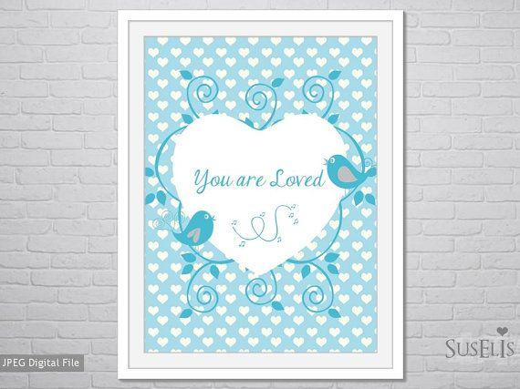 Printable text Nursery Wall Art Printable Wall Art by Suselis