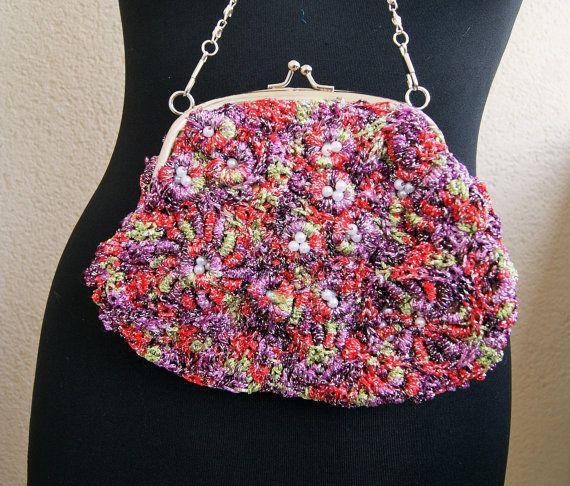 Evening bag crochet hook  Freform crochet by handmadestreet101