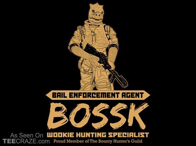 Bail Enforcement Agent Bossk T-Shirt