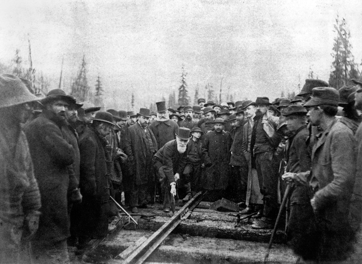 Last spike - Confederation and railway