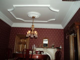 how to: finishing a miniature ceiling