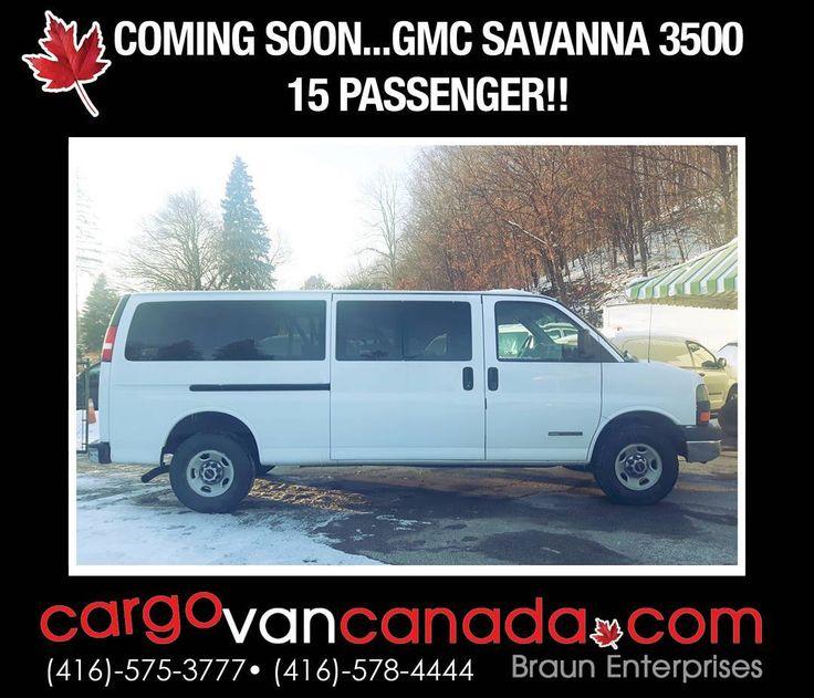 TODAYS VAN OF THE DAY 15 PASSENGER GMC SAVANA 3500 Chevyexpress Chev3500 Largefamily