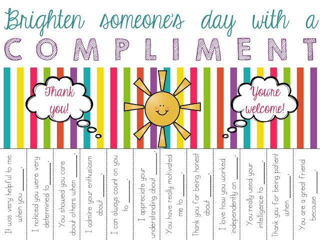 compliment circle  u0026 tear offs freebie