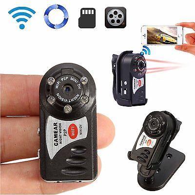 Wireless WIFI Web IP P2P Spy Hidden Security Camera Mini Night Vision Camcorder