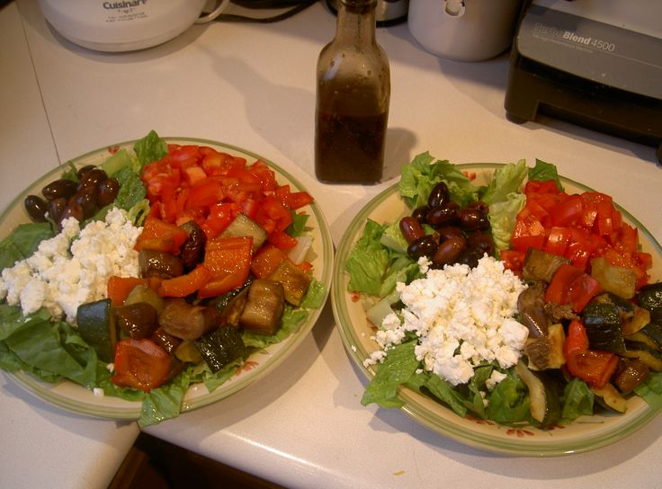 Antipasto salads inspired by Panago with homemade balsamic dressing