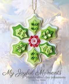 polymer clay snowflake ornaments - Google Search