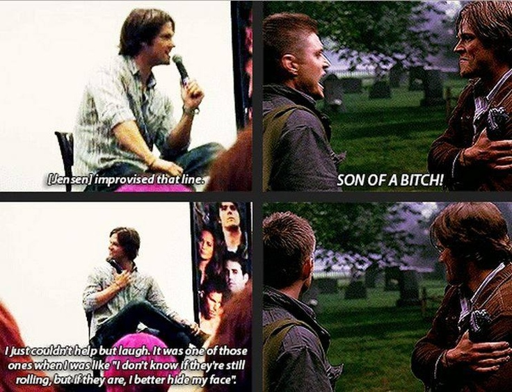 First time I watched this episode I thought it looked like Jared was going to laugh then turned away. Then I saw it on a gag reel...and now Jared explains what happened. I knew it!