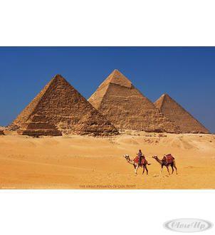 Pyramiden von Gizeh Poster Hier bei www.closeup.de