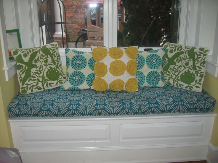 Superior Bench Cushion Cover Love The Teal Yellow And Green
